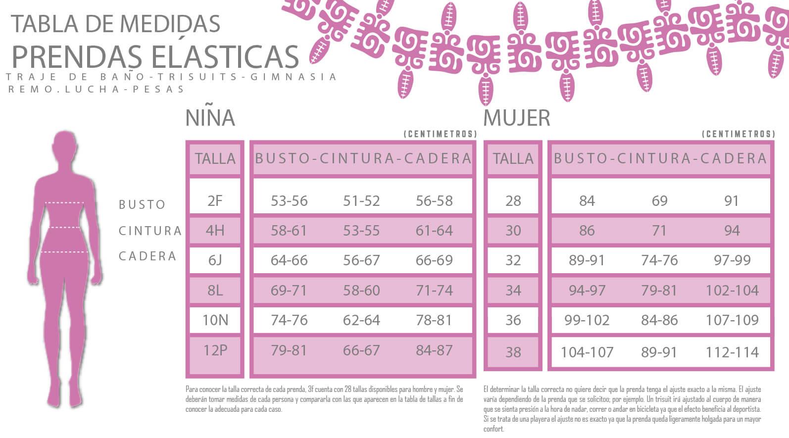 PRENDAS ELÁSTICAS NIÑA/MUJER