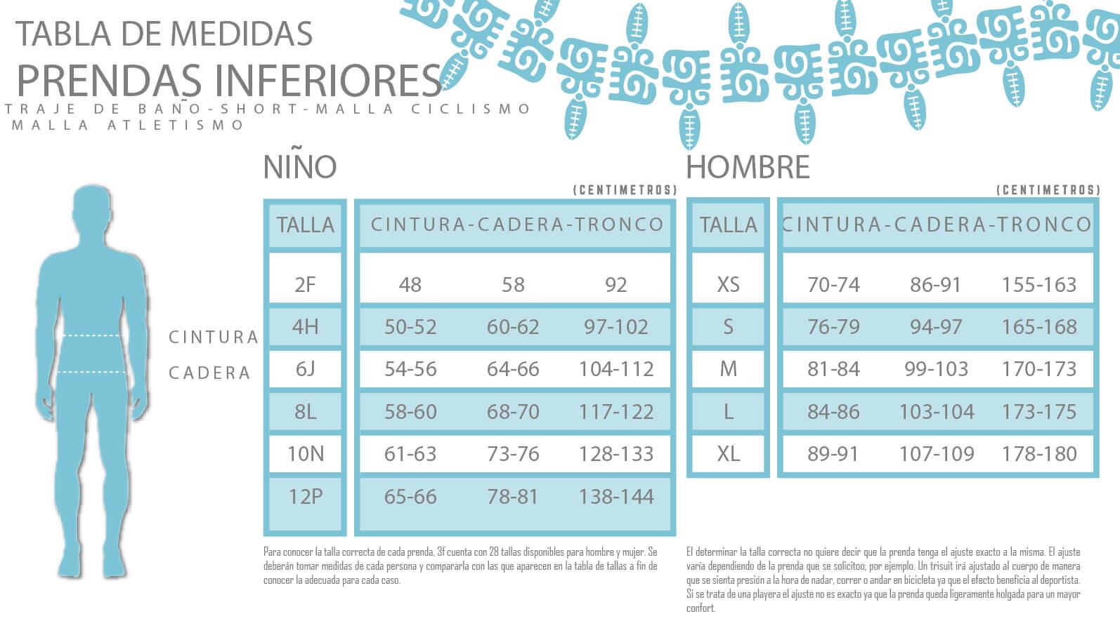 PRENDAS INFERIORES NIÑO/HOMBRE