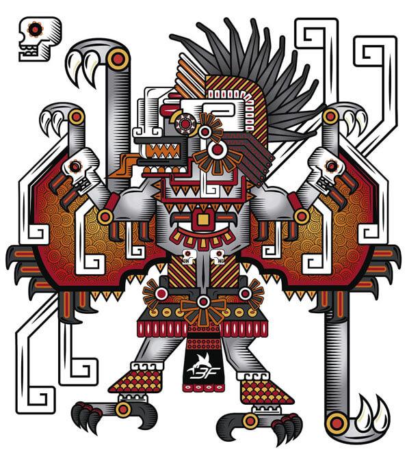 Playera Natural Camazotz 3F Hombre - TriFerrari   Orgullosamente mexicana